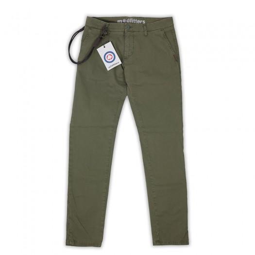 Soho - Pantalone Chino Slim Military