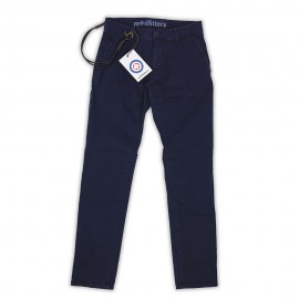 Soho - Pantalone Chino Slim Navy