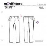 Carnaby - Pantalone Chino Slim Mud