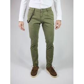 Park Lane - Pantalone Chino Slim Military Green