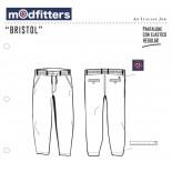 Bristol - Pantalone Chino Regular Navy