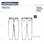 Bristol - Pantalone Chino Regular Ghost