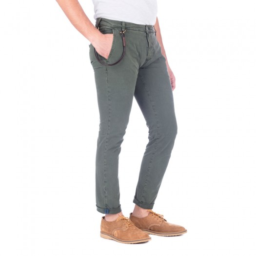 Carnaby - Pantalone Chino Slim (Army Green)