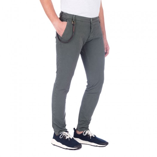 Soho - Pantalone Chino Skinny (Army Green)